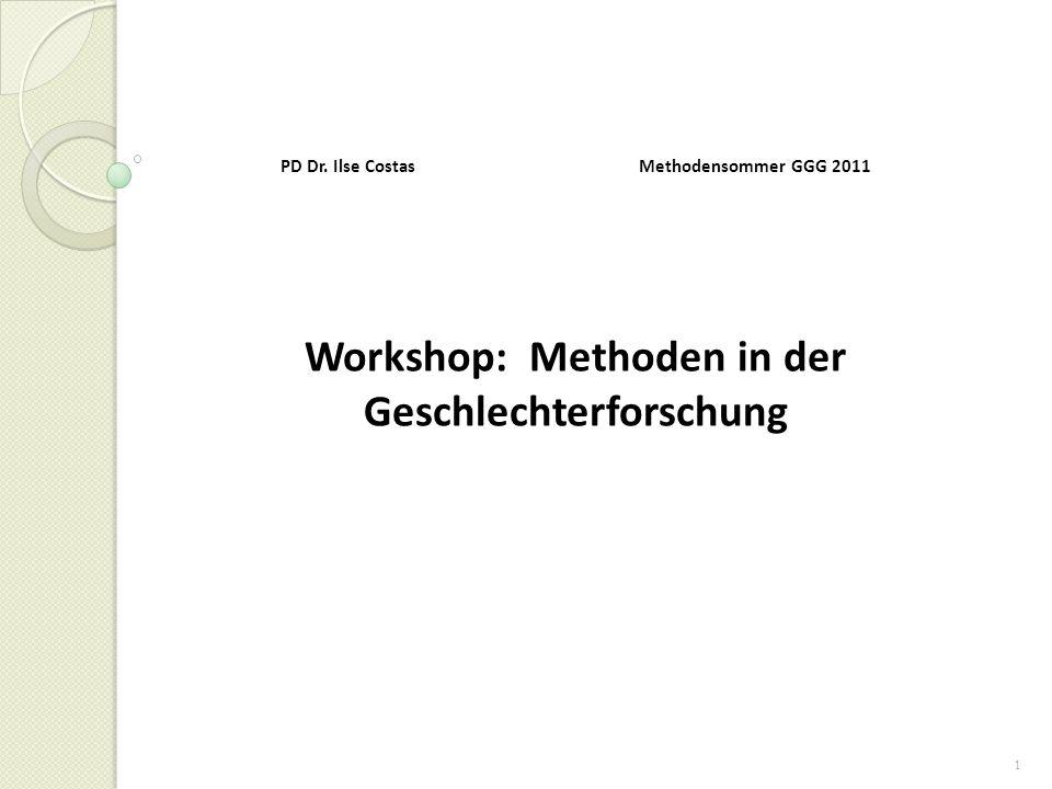 2 Feministische Wissenschaftskritik und Methoden der Geschlechterforschung: Einführung in die Problemstellungen 1.