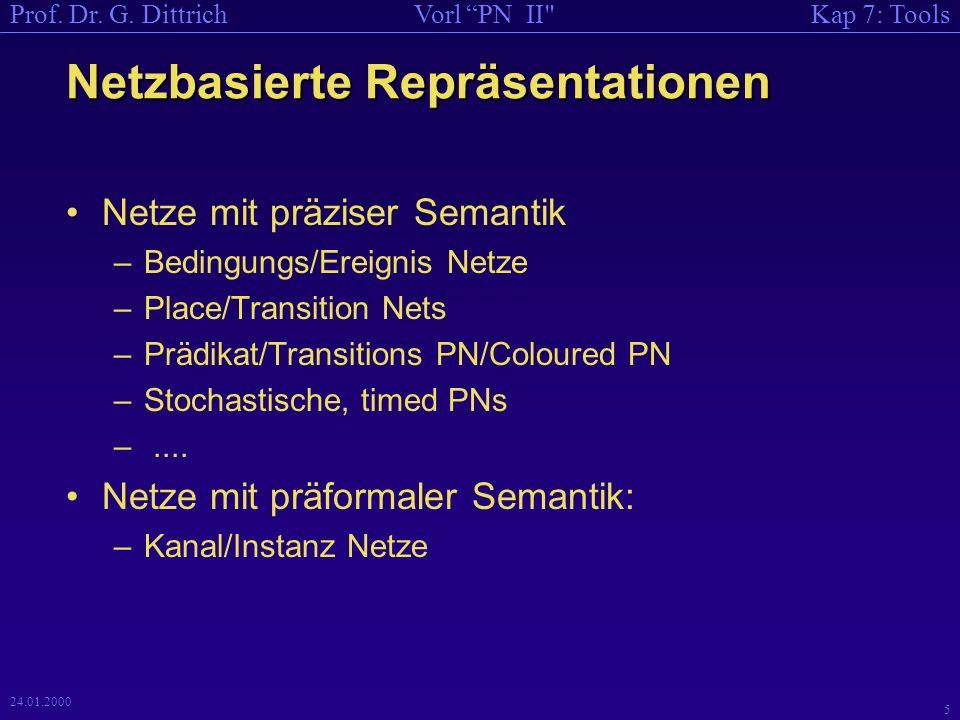 Kap 7: ToolsVorl PN II Prof. Dr. G. Dittrich 6 24.01.2000 Netzbasierte Repräsentationen