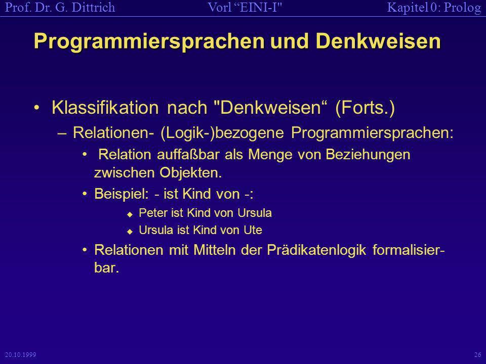 Kapitel 0: PrologVorl EINI-I Prof.Dr. G.