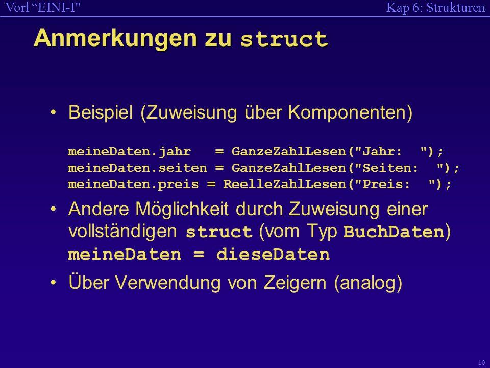 Kap 6: StrukturenVorl EINI-I