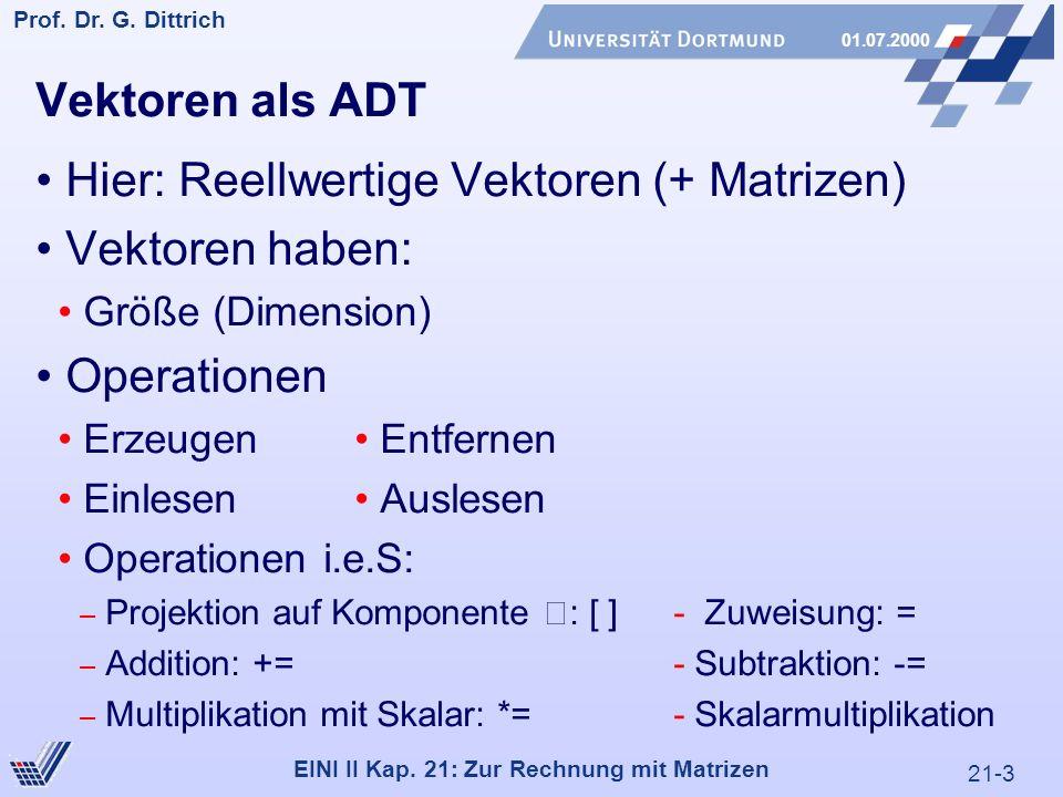 21-54 Prof.Dr. G. Dittrich 01.07.2000 EINI II Kap.