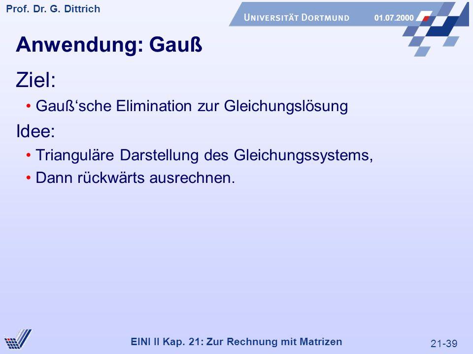 21-39 Prof. Dr. G. Dittrich 01.07.2000 EINI II Kap.