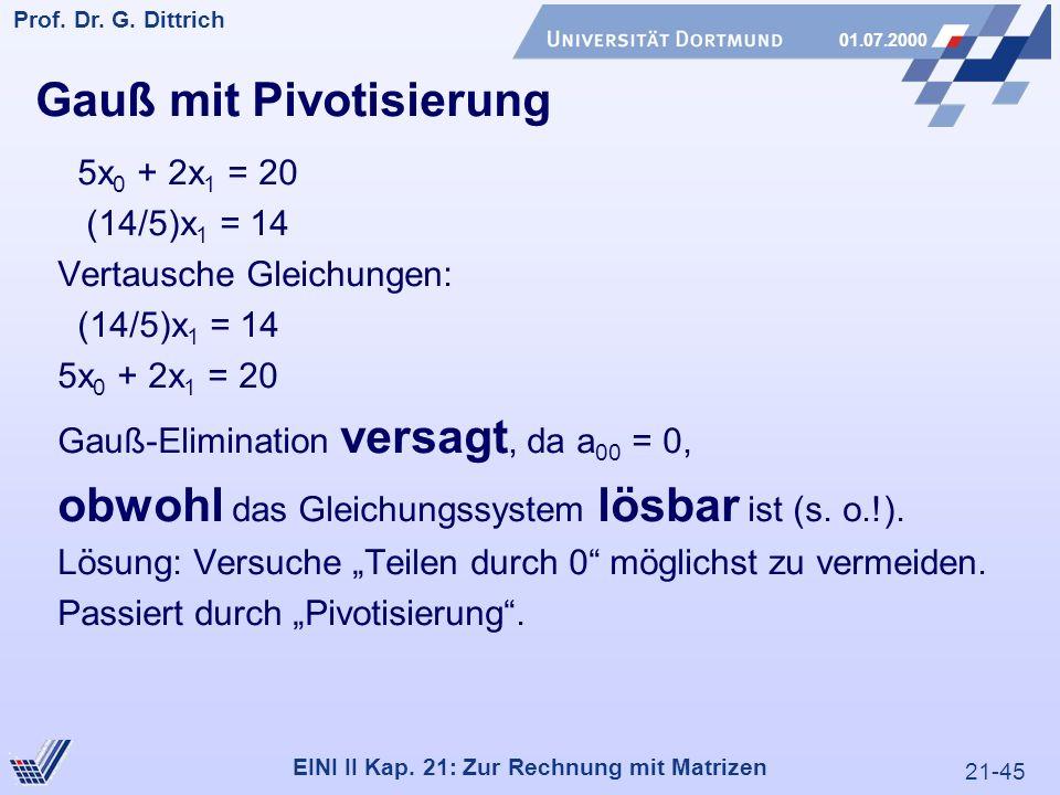 21-45 Prof. Dr. G. Dittrich 01.07.2000 EINI II Kap.