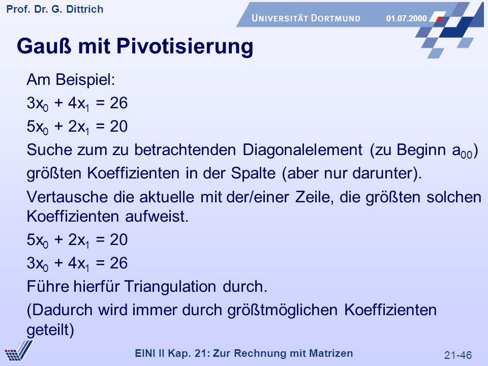 21-46 Prof. Dr. G. Dittrich 01.07.2000 EINI II Kap.