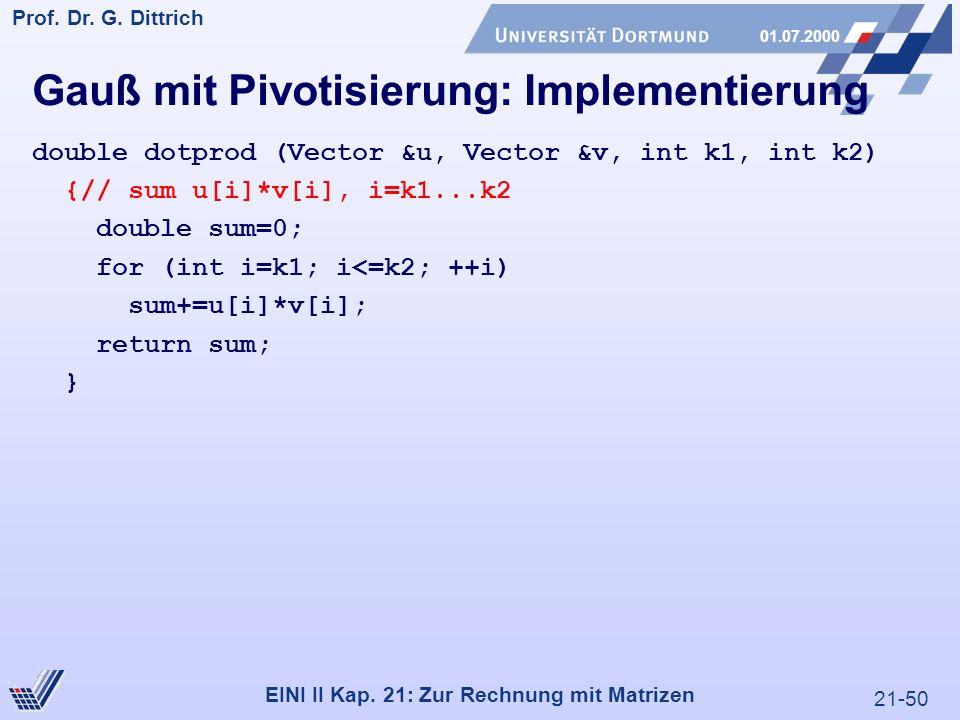 21-50 Prof. Dr. G. Dittrich 01.07.2000 EINI II Kap.