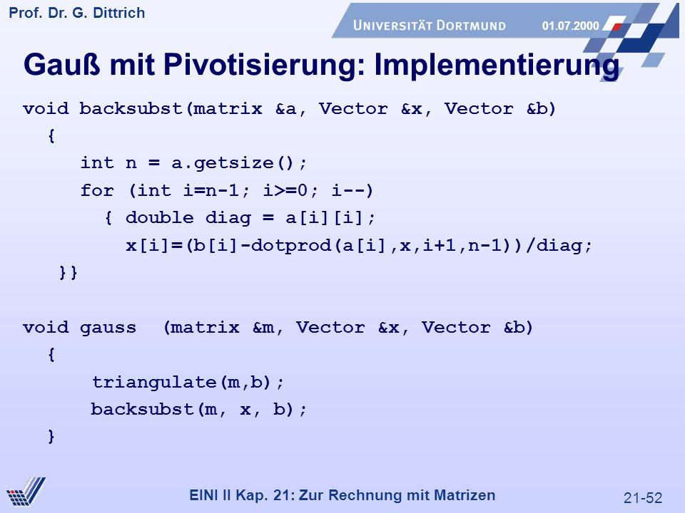 21-52 Prof. Dr. G. Dittrich 01.07.2000 EINI II Kap.