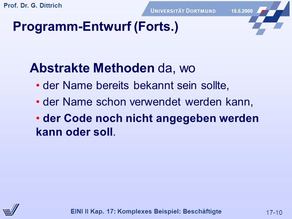 17-10 Prof. Dr. G. Dittrich 15.5.2000 EINI II Kap.
