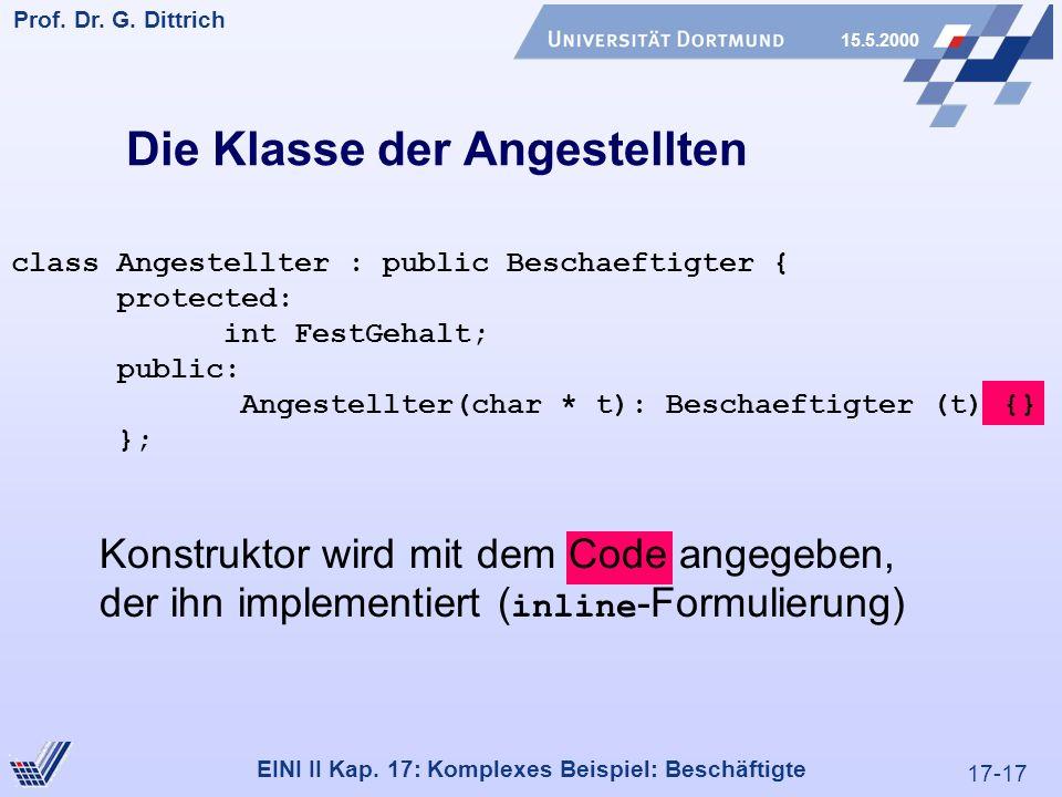 17-17 Prof. Dr. G. Dittrich 15.5.2000 EINI II Kap.