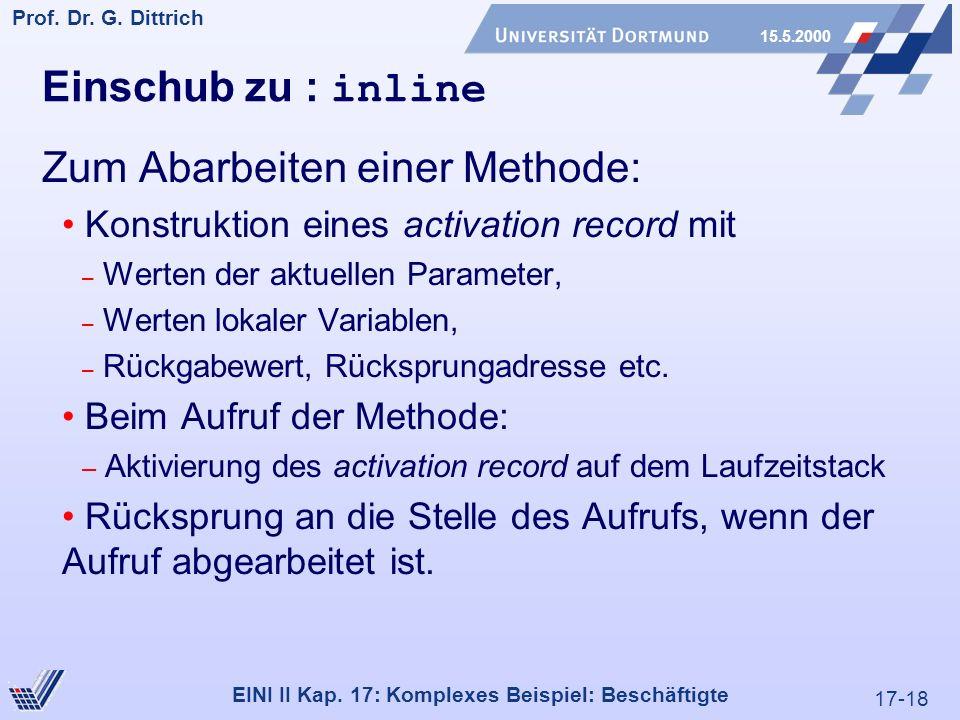 17-18 Prof. Dr. G. Dittrich 15.5.2000 EINI II Kap.