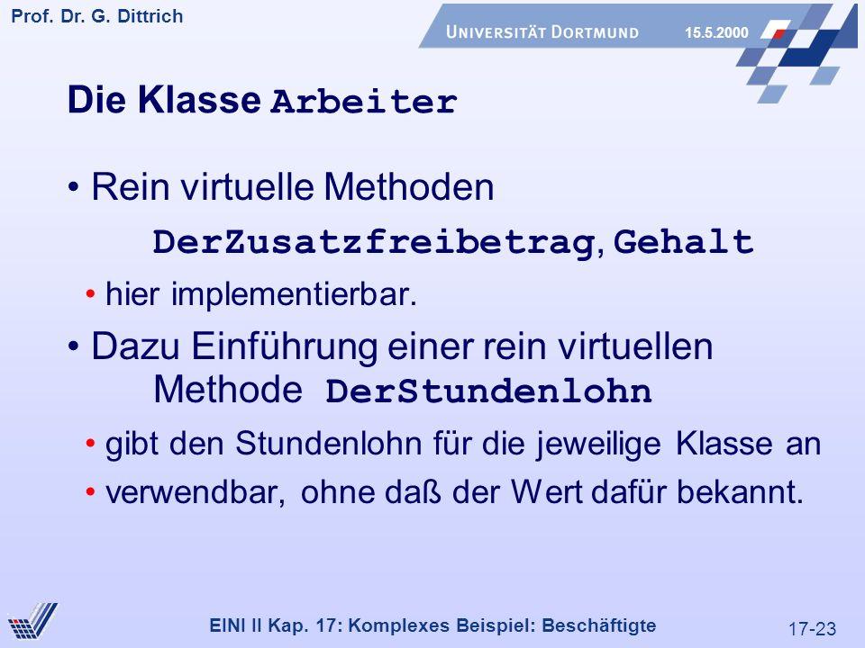17-23 Prof. Dr. G. Dittrich 15.5.2000 EINI II Kap.
