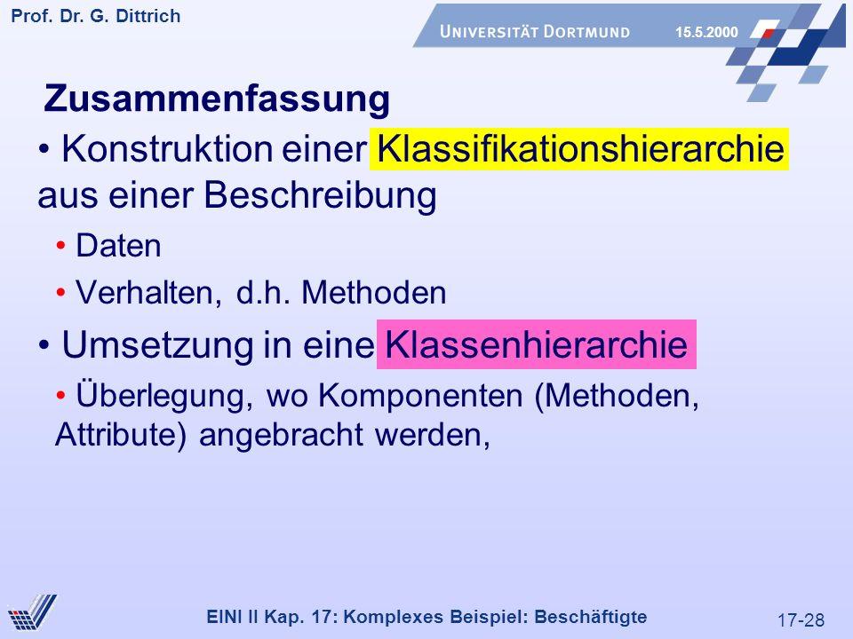 17-28 Prof. Dr. G. Dittrich 15.5.2000 EINI II Kap.