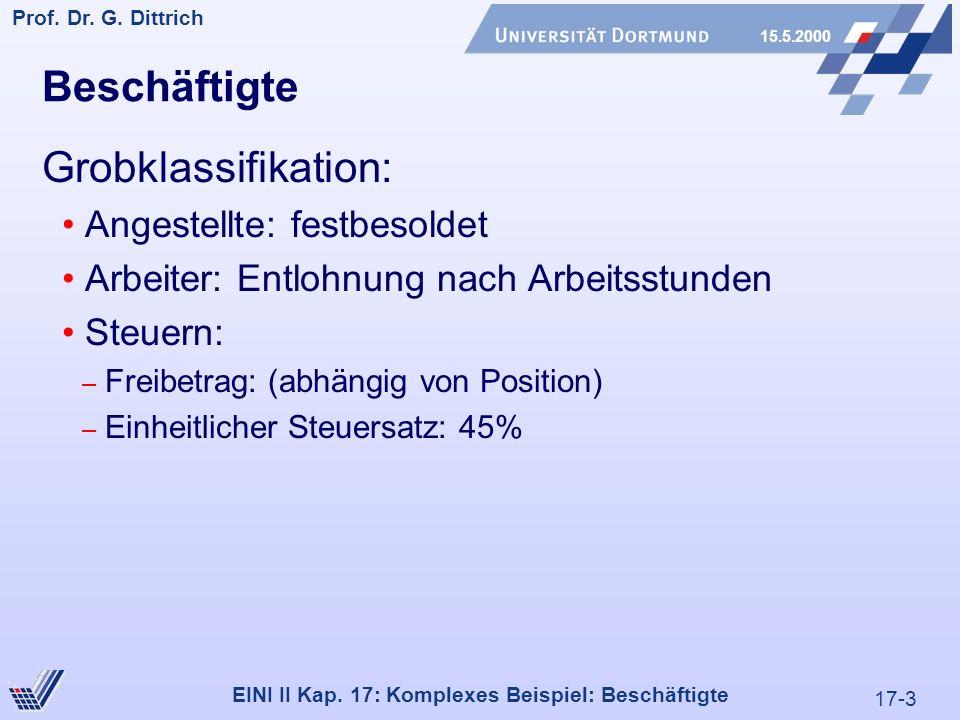 17-3 Prof. Dr. G. Dittrich 15.5.2000 EINI II Kap.