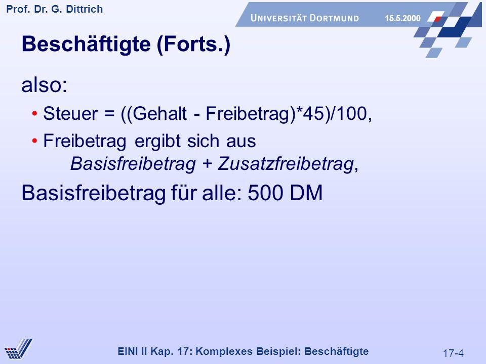 17-4 Prof. Dr. G. Dittrich 15.5.2000 EINI II Kap.