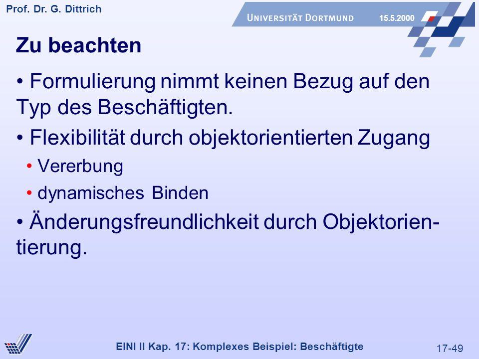 17-49 Prof. Dr. G. Dittrich 15.5.2000 EINI II Kap.