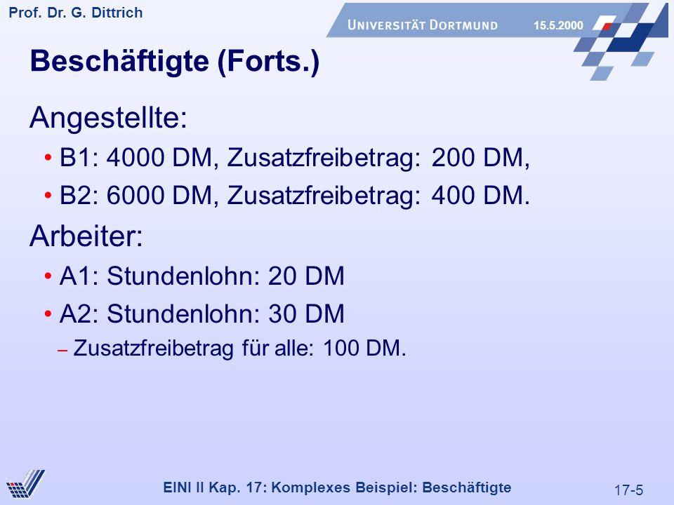 17-5 Prof. Dr. G. Dittrich 15.5.2000 EINI II Kap.