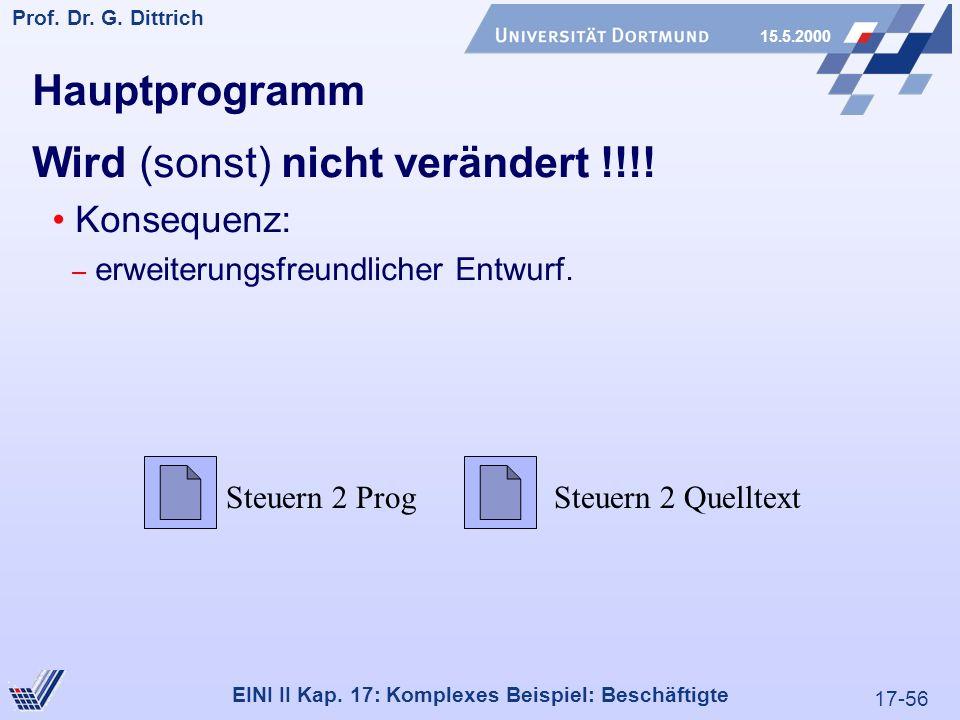 17-56 Prof. Dr. G. Dittrich 15.5.2000 EINI II Kap.
