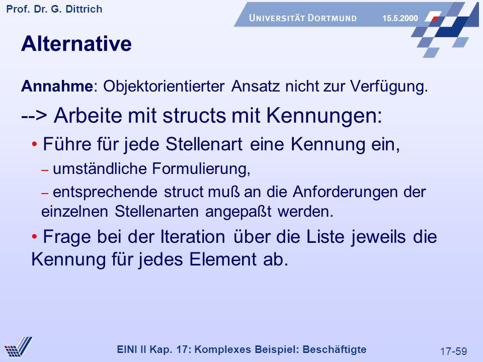 17-59 Prof. Dr. G. Dittrich 15.5.2000 EINI II Kap.