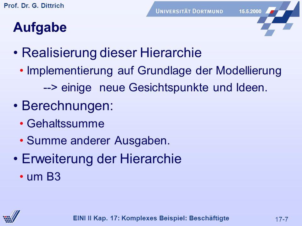 17-7 Prof. Dr. G. Dittrich 15.5.2000 EINI II Kap.