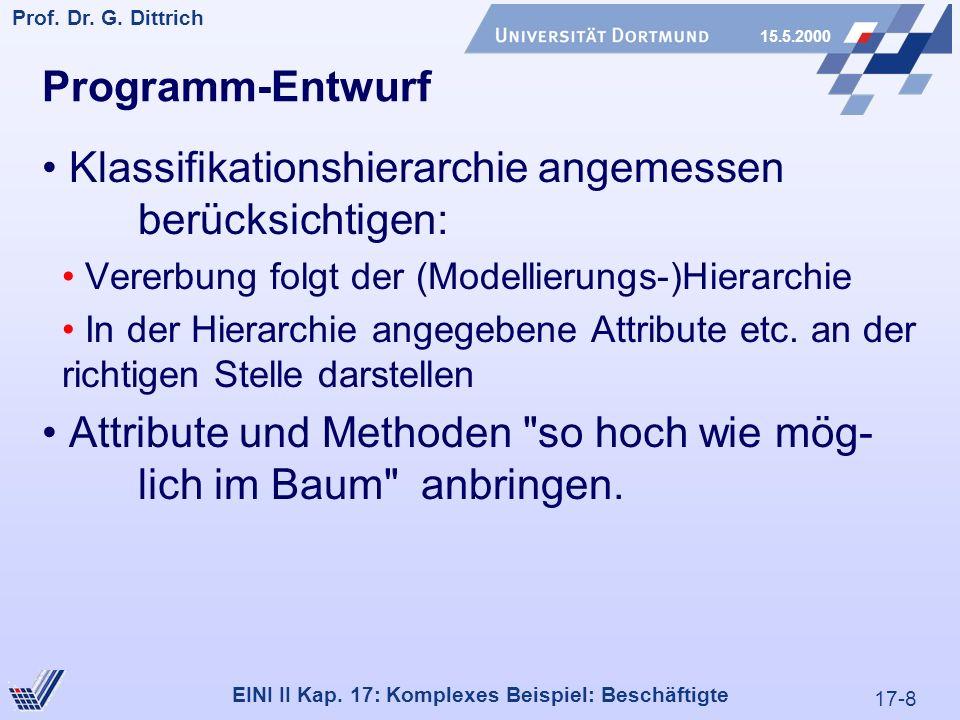 17-8 Prof. Dr. G. Dittrich 15.5.2000 EINI II Kap.