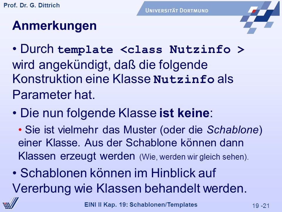 19 -21 Prof. Dr. G. Dittrich 29.05.2000 EINI II Kap.