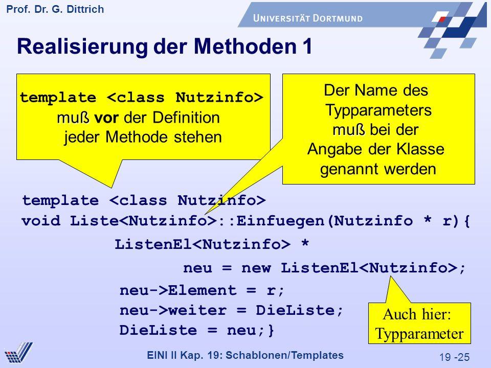 19 -25 Prof. Dr. G. Dittrich 29.05.2000 EINI II Kap.