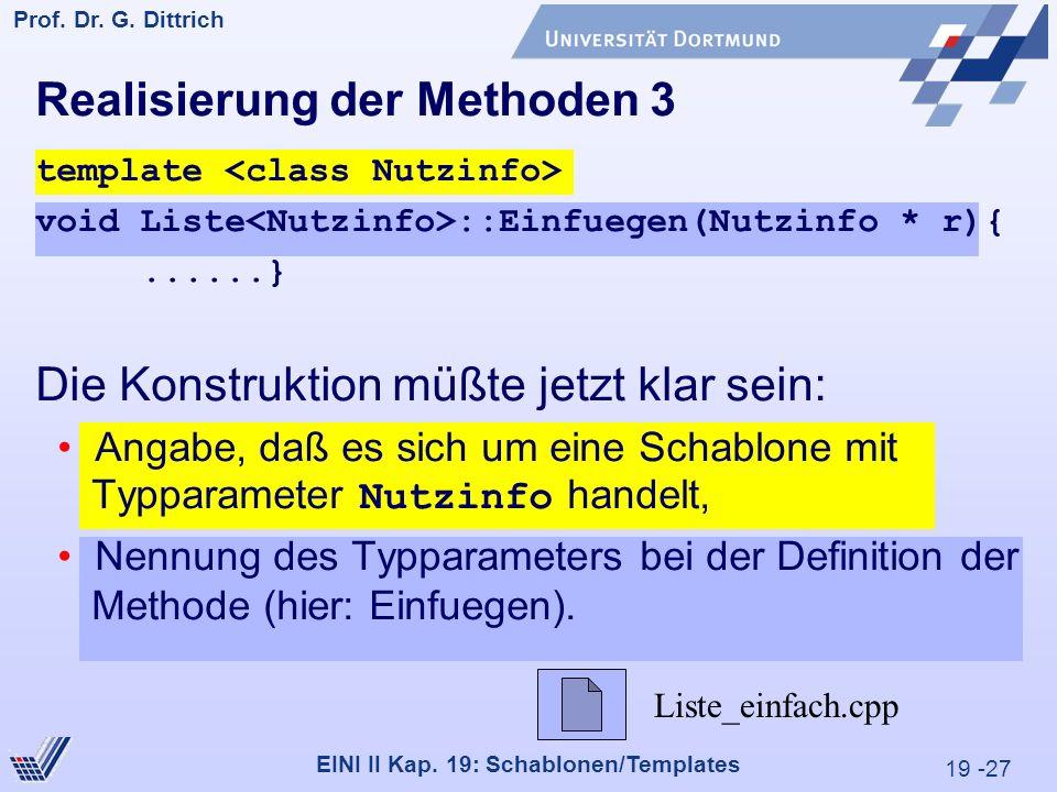 19 -27 Prof. Dr. G. Dittrich 29.05.2000 EINI II Kap.