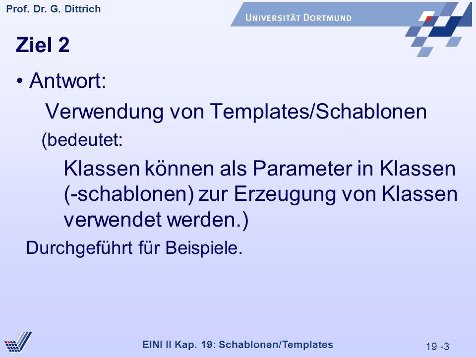 19 -3 Prof. Dr. G. Dittrich 29.05.2000 EINI II Kap.