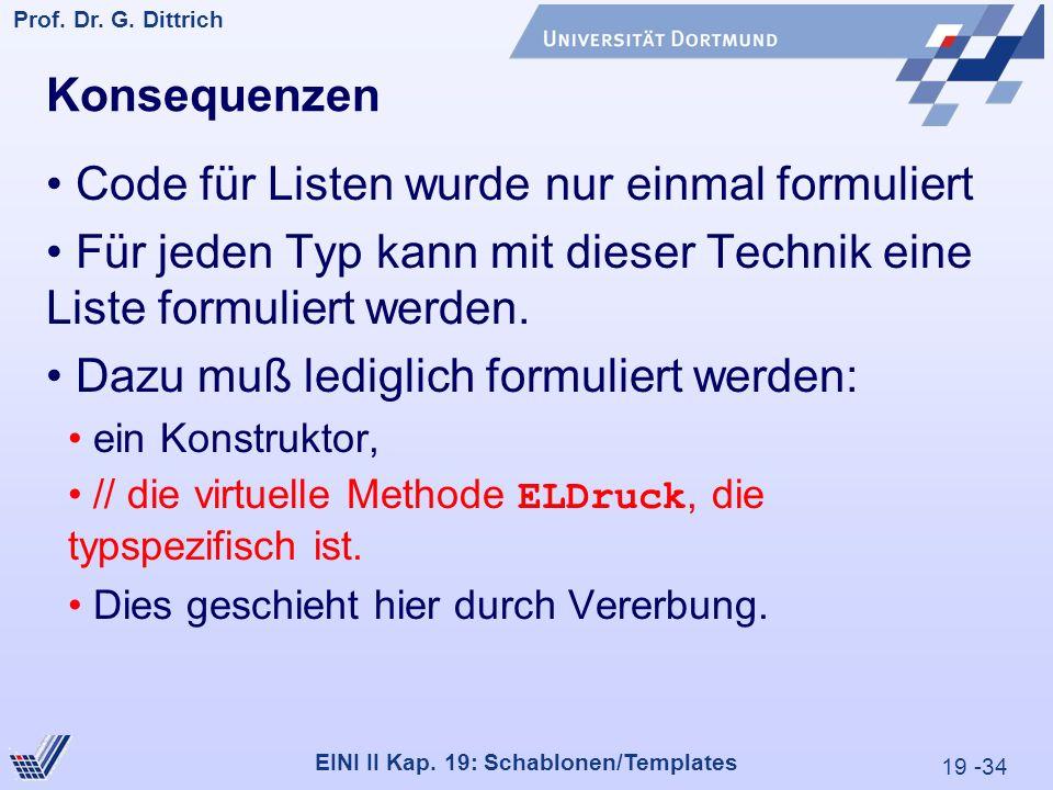 19 -34 Prof. Dr. G. Dittrich 29.05.2000 EINI II Kap.