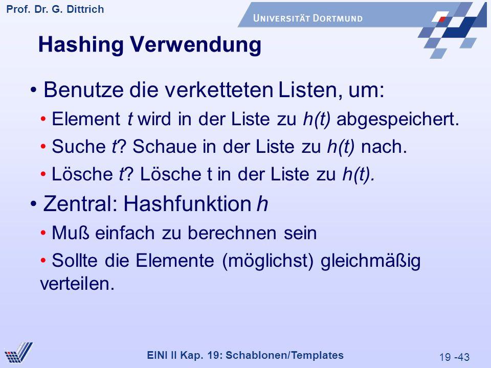 19 -43 Prof. Dr. G. Dittrich 29.05.2000 EINI II Kap.