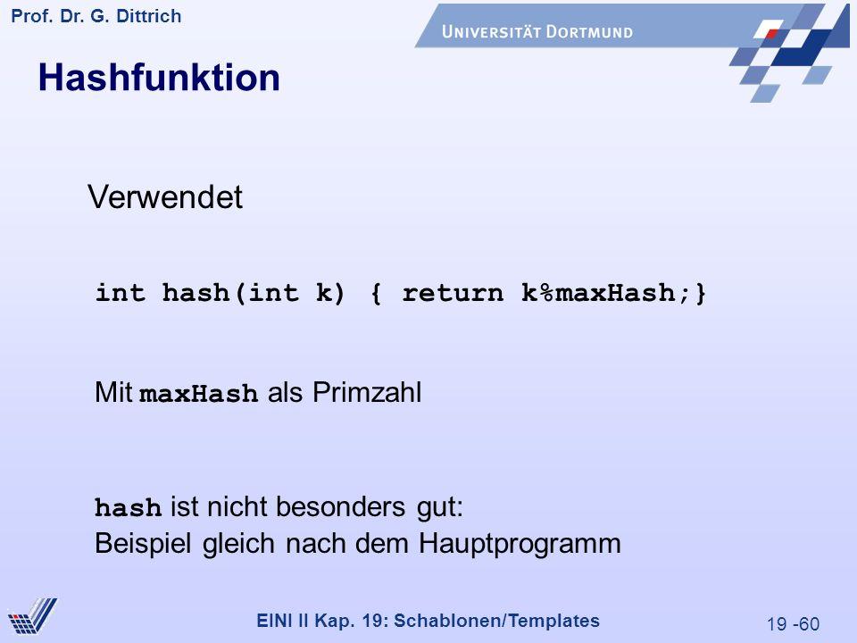 19 -60 Prof. Dr. G. Dittrich 29.05.2000 EINI II Kap.