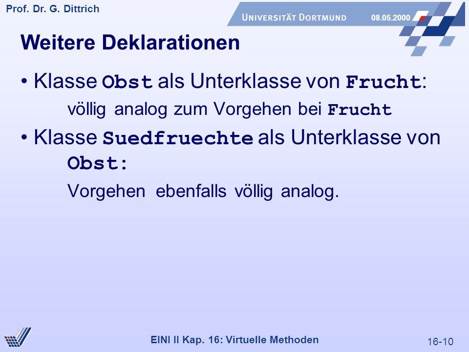 16-10 Prof. Dr. G. Dittrich 08.05.2000 EINI II Kap.