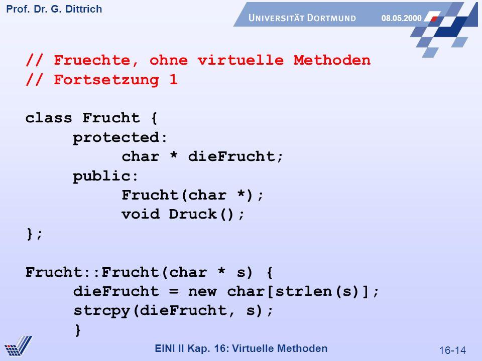 16-14 Prof. Dr. G. Dittrich 08.05.2000 EINI II Kap.