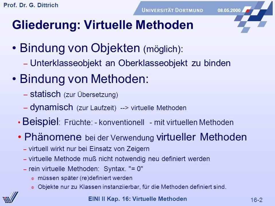 16-2 Prof. Dr. G. Dittrich 08.05.2000 EINI II Kap.