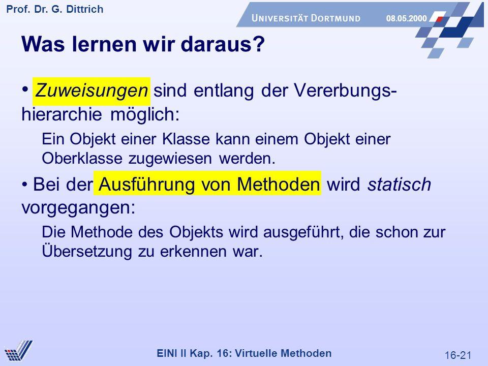 16-21 Prof. Dr. G. Dittrich 08.05.2000 EINI II Kap.