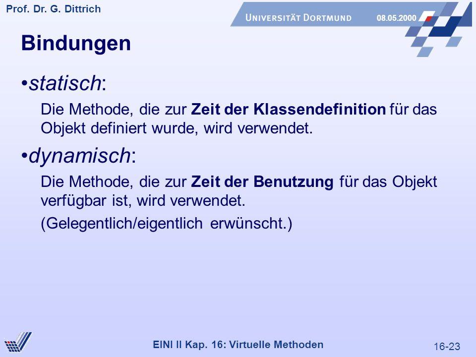 16-23 Prof. Dr. G. Dittrich 08.05.2000 EINI II Kap.