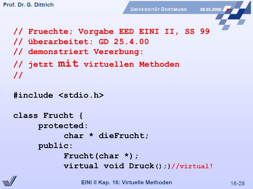 16-28 Prof. Dr. G. Dittrich 08.05.2000 EINI II Kap.
