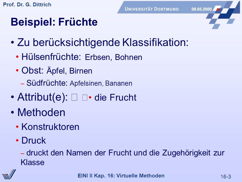 16-3 Prof. Dr. G. Dittrich 08.05.2000 EINI II Kap.