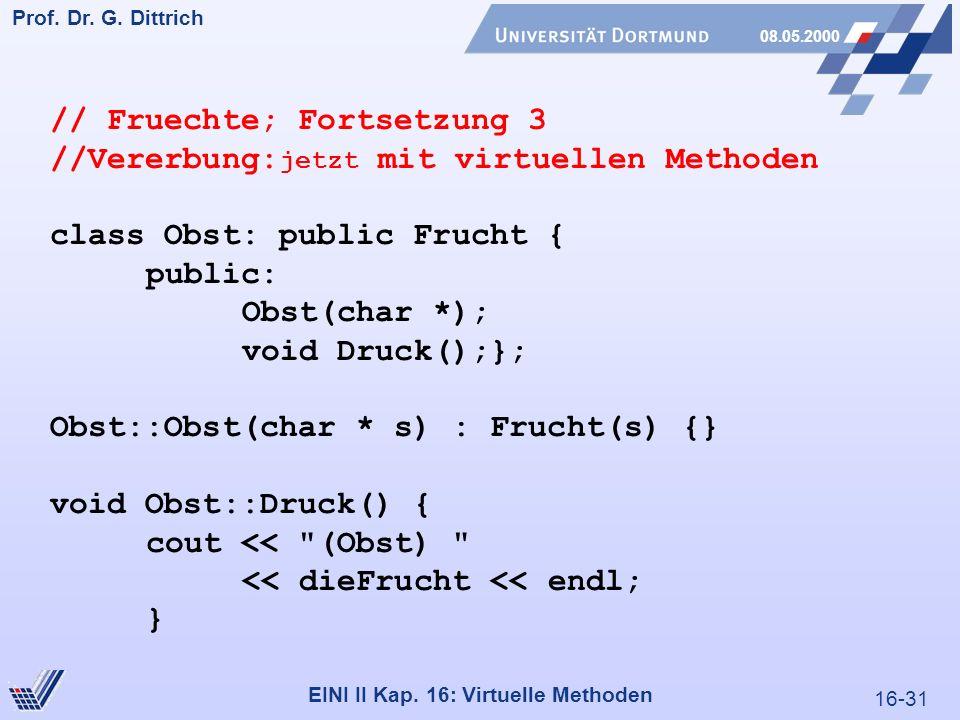 16-31 Prof. Dr. G. Dittrich 08.05.2000 EINI II Kap.