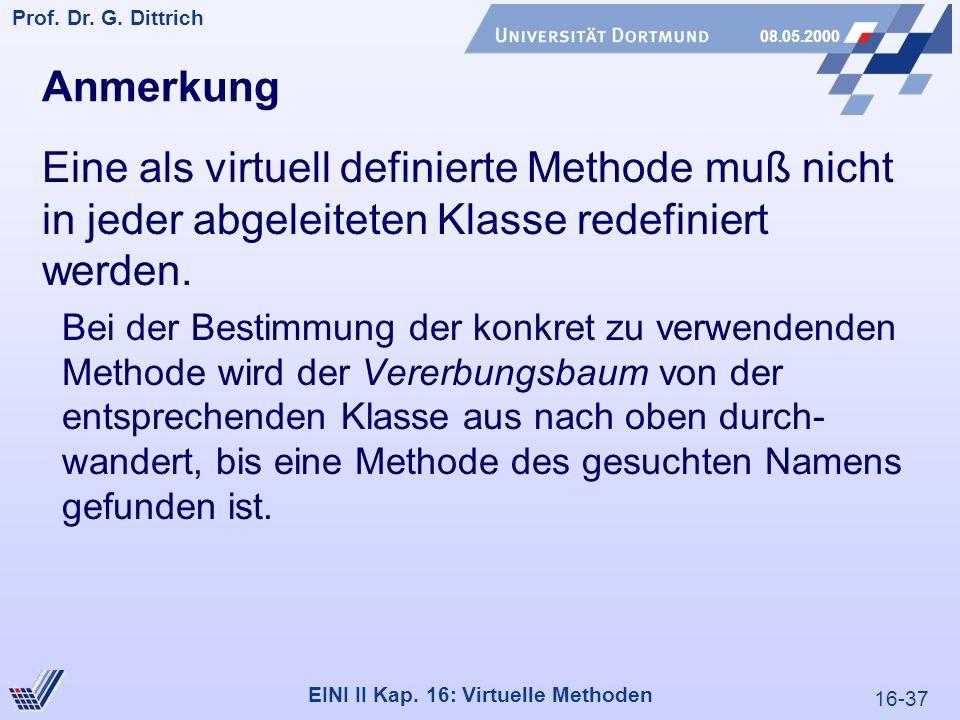 16-37 Prof. Dr. G. Dittrich 08.05.2000 EINI II Kap.