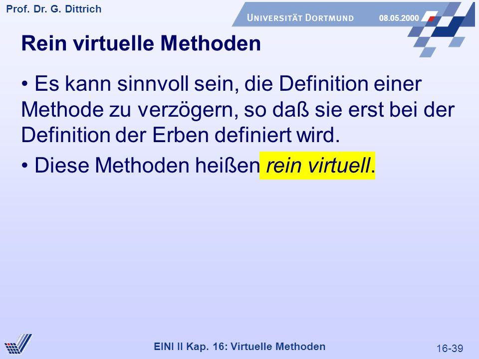 16-39 Prof. Dr. G. Dittrich 08.05.2000 EINI II Kap.