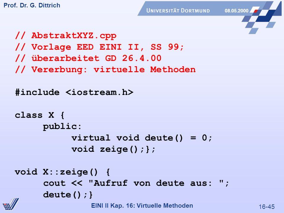 16-45 Prof. Dr. G. Dittrich 08.05.2000 EINI II Kap.