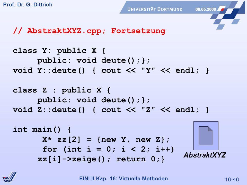 16-46 Prof. Dr. G. Dittrich 08.05.2000 EINI II Kap.