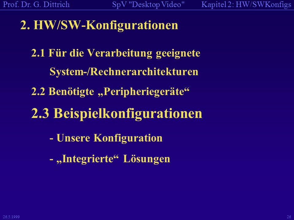 Kapitel 2: HW/SWKonfigsSpV