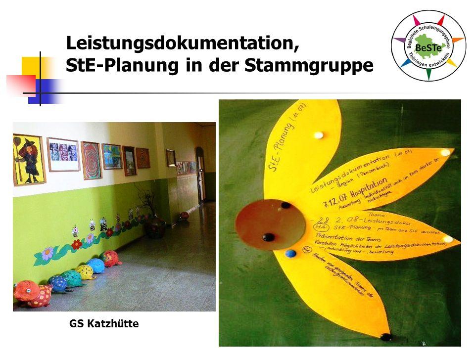 Leistungsdokumentation, StE-Planung in der Stammgruppe GS Katzhütte
