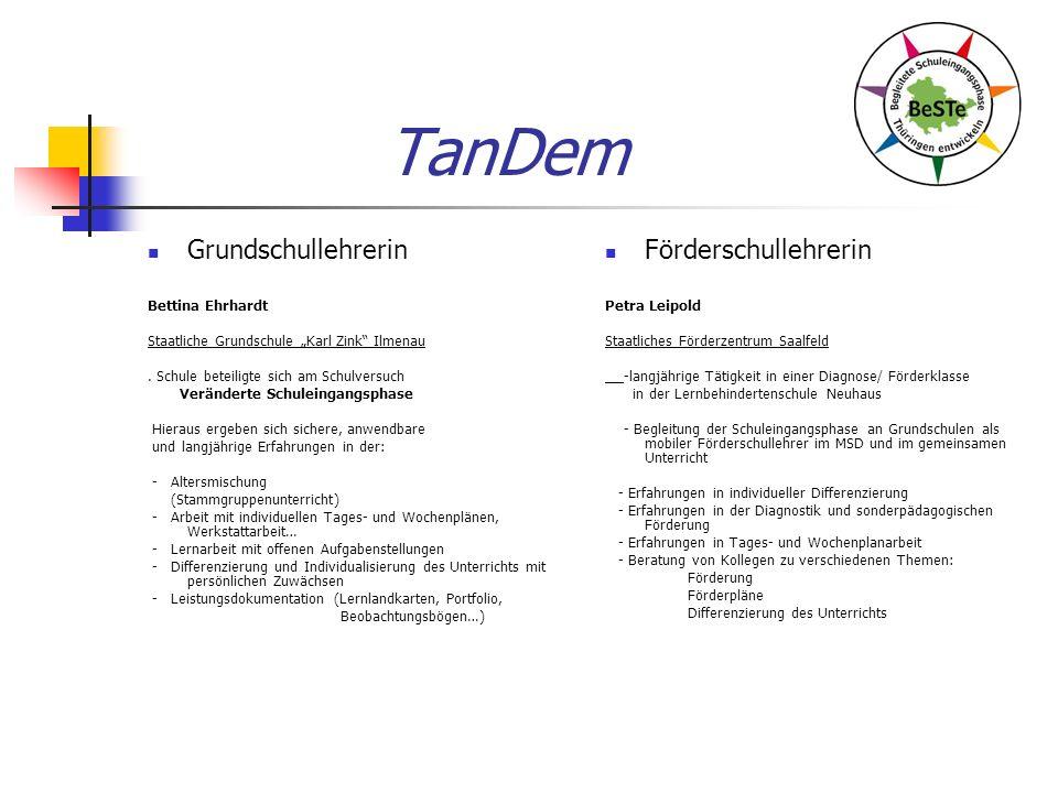 TanDem Grundschullehrerin Bettina Ehrhardt Staatliche Grundschule Karl Zink Ilmenau.