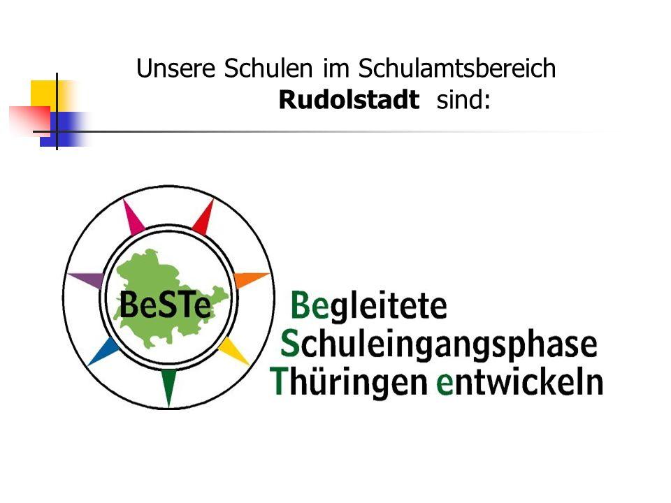 Unsere Schulen im Schulamtsbereich Rudolstadt sind: