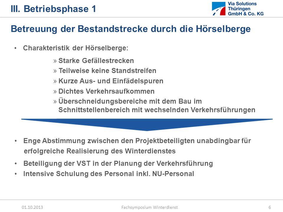 01.10.2013 Fachsymposium Winterdienst7 III.Betriebsphase 1 …bestanden.