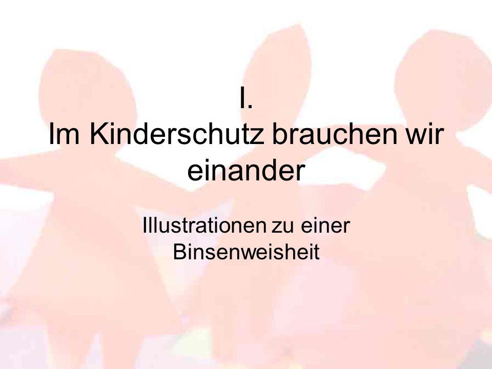I. Im Kinderschutz brauchen wir einander Illustrationen zu einer Binsenweisheit
