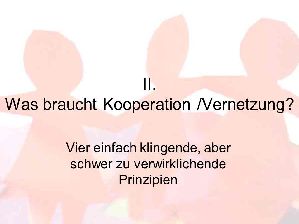 Aber vorher: Was ist eigentlich der Unterschied zwischen Kooperation und Vernetzung.