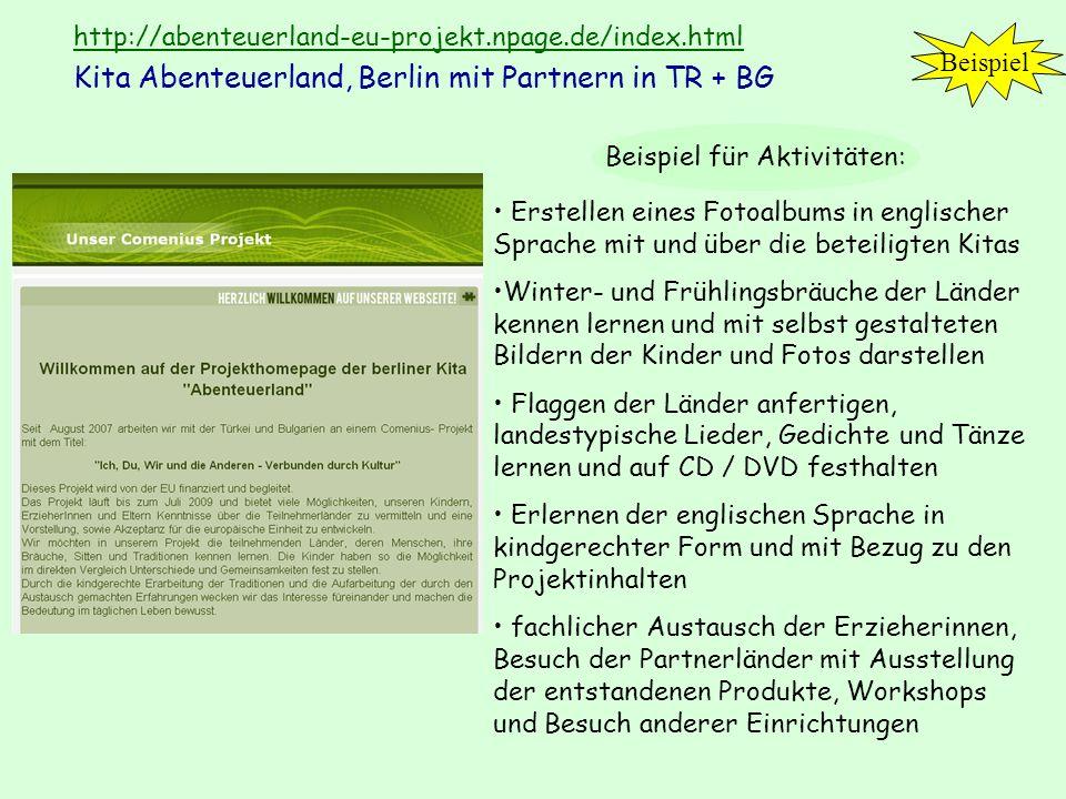 http://abenteuerland-eu-projekt.npage.de/index.html http://abenteuerland-eu-projekt.npage.de/index.html Kita Abenteuerland, Berlin mit Partnern in TR